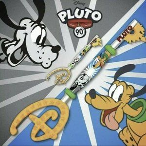 Disney Pluto 90th Anniversary Key AND Pin Set